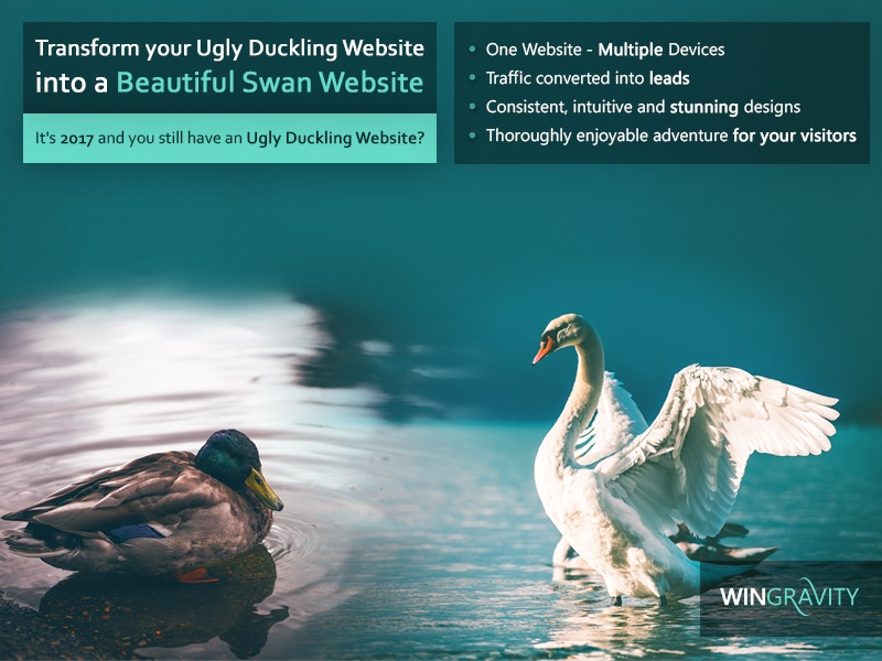 Ugly Duckling Website vs. Beautiful Swan Website